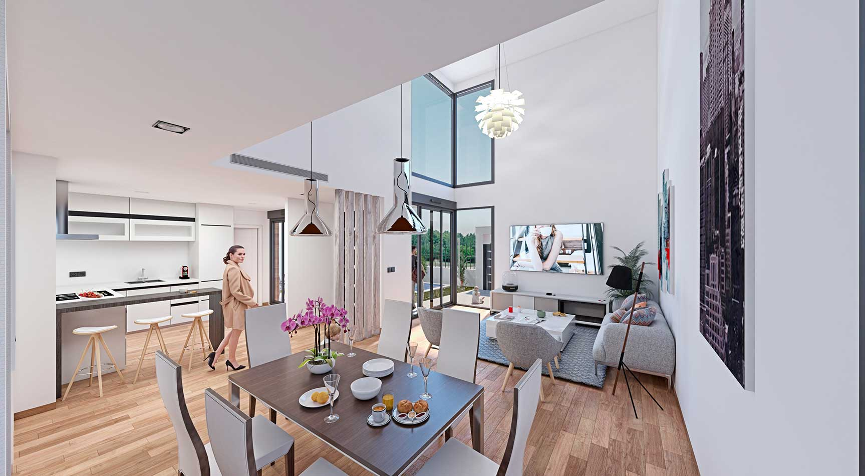 interior diseño minimalista Murcia